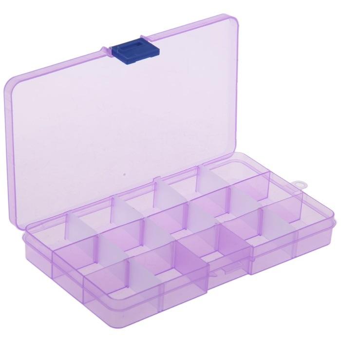 Органайзер для таблеток на 15 ячеек, 18 х 10 х 2 см