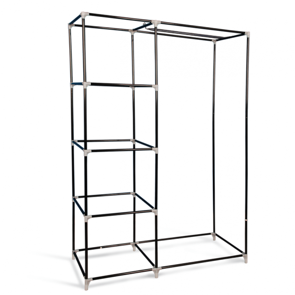 """Тканевый шкаф """"Гардероб"""", темно-коричневый, 105 х 45 х 160 см"""