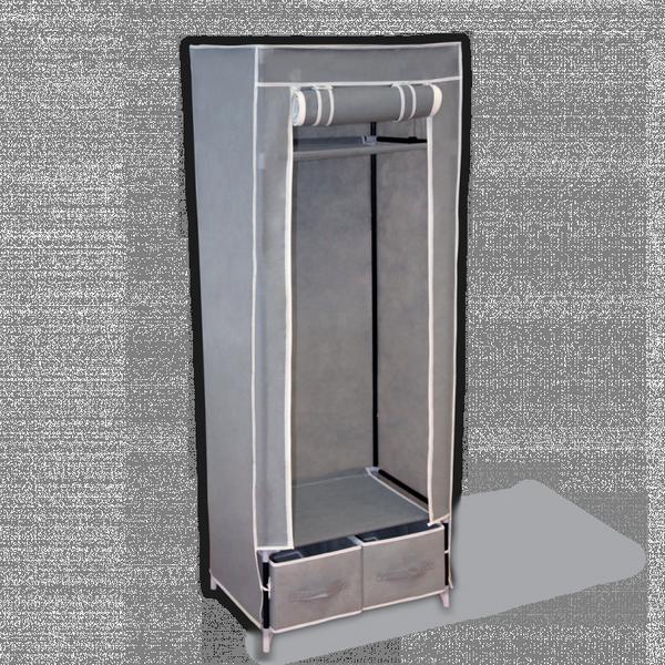 """Тканевый шкаф """"Рино"""", серый, 60 х 45 х 160 см"""