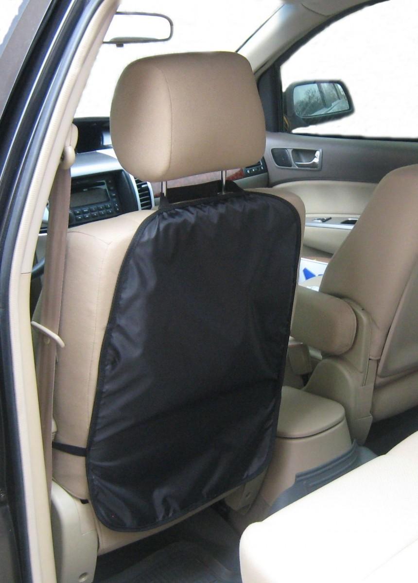 Защитная накидка для спинки сиденья, черная