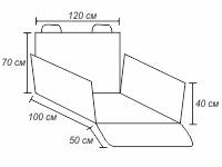Защитная накидка в багажник, черный, 100 х 120 х 40 см