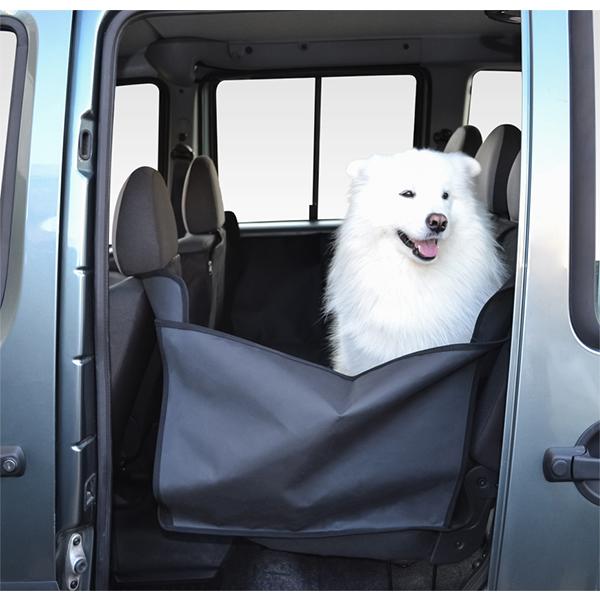Автогамак для перевозки собак в салоне (с защитой дверей), черный, 160 х 150 см