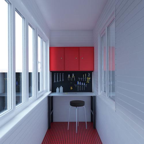 Мебельный набор для гаража - верстак, шкаф, перфопанель