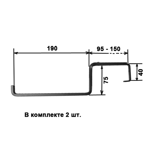 Кронштейны для крепления к перилам и балконам, захват перил 9,5-15 см