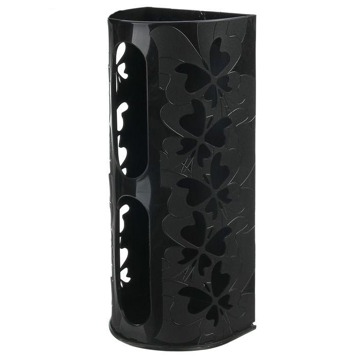 Купить корзину для пакетов Бабочки черный