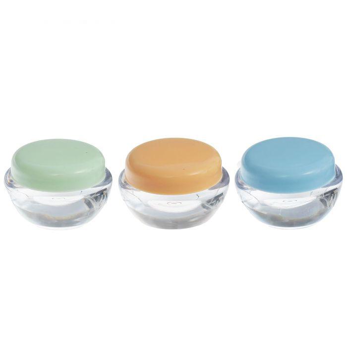 Набор для хранения лопатка и 2 баночки по 10 мл, разные цвета