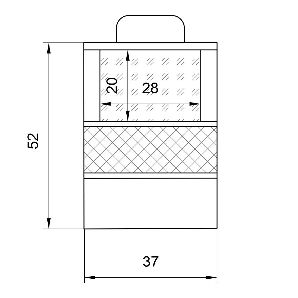 Органайзер для автомобильного сиденья с секцией под планшет, 37 х 52 см