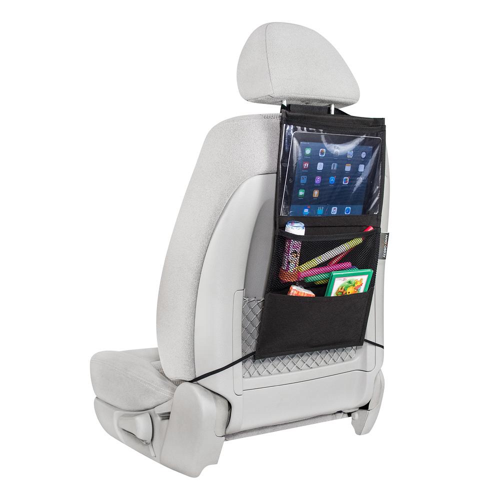 Органайзер для автомобильного сиденья маленький с секцией под планшет
