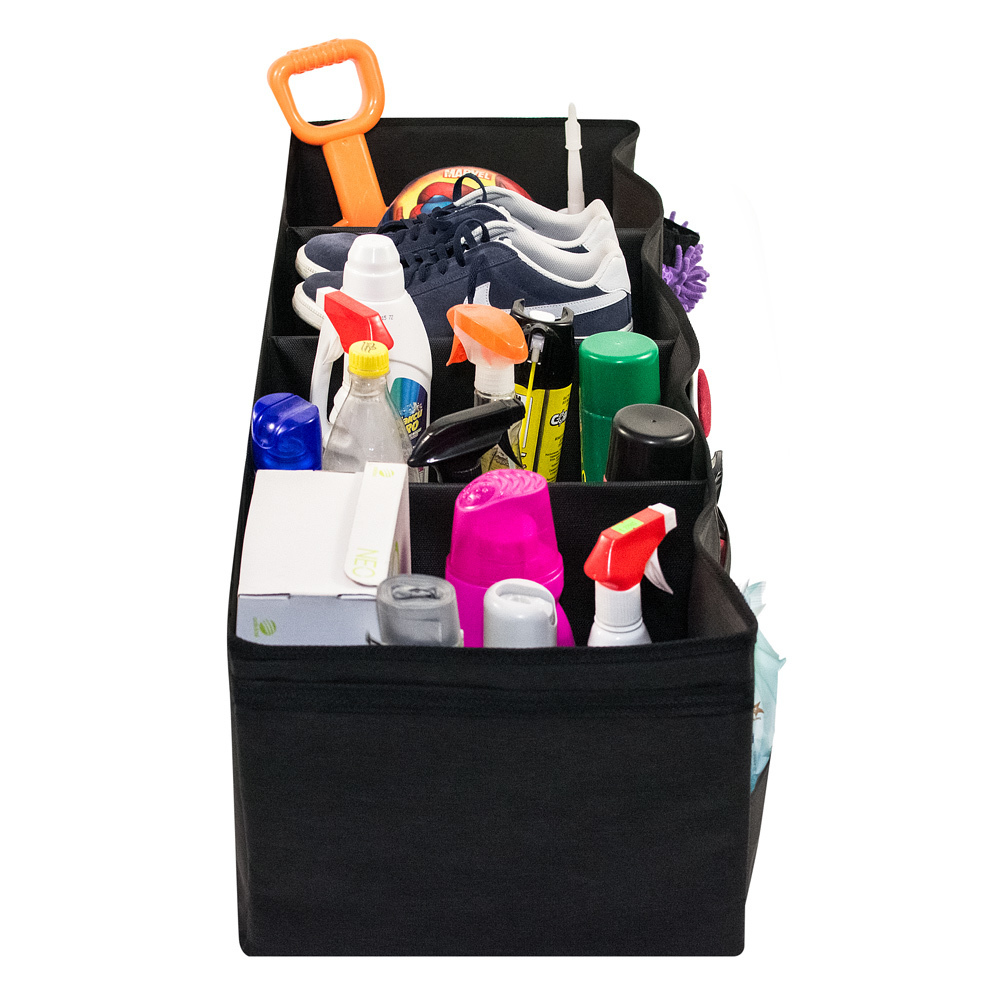 Органайзер для багажника, 4 секции с крышкой, 100 х 34 х 28 см