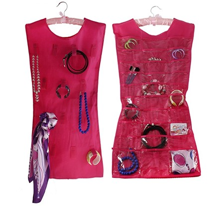 Органайзер в форме платья для мелочей, красный