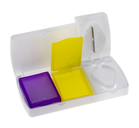 Купить набор их 3-х предметов 2 контейнера и таблеторезка 9,5 х 5 х 1,5 см