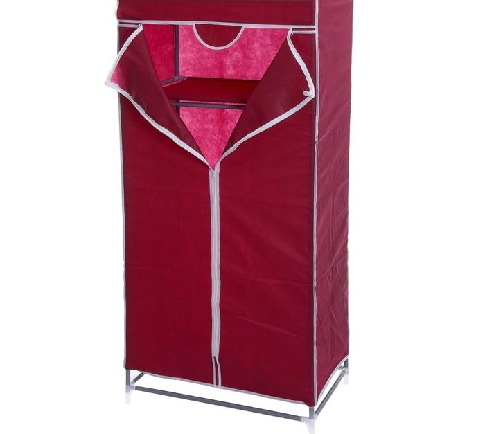Тканевый шкаф бордовый, 90 x 45 x 155 см