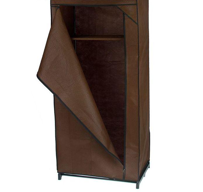 Тканевый шкаф 75x46x160 см, кофейный