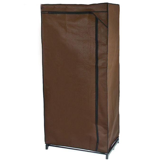 Тканевый шкаф 75 x 46 x 160 см, кофейный