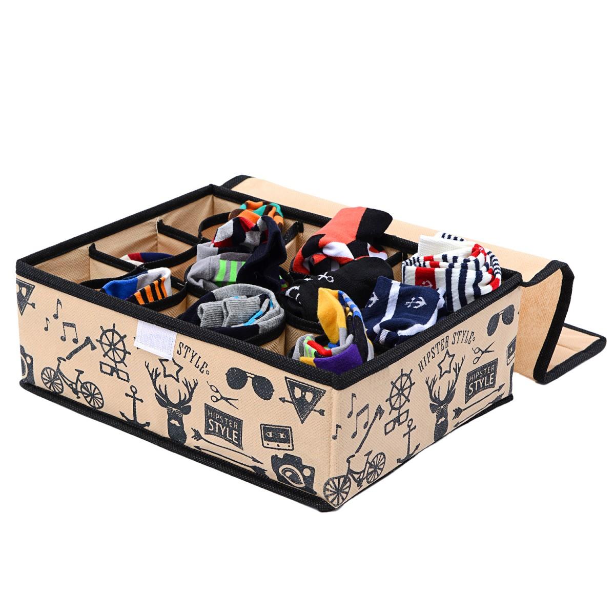 Купить органайзер с крышкой на 18 секций Hipster Style 31 х 24 х 11 см