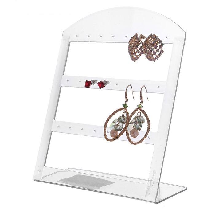 Купить подставку для украшений Серьги прозрачную 9 x 4 x 13 см