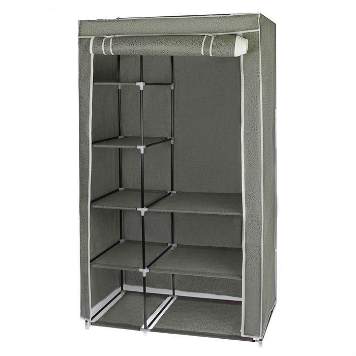 Тканевый шкаф для одежды, серый, 100 x 50 x 170 см
