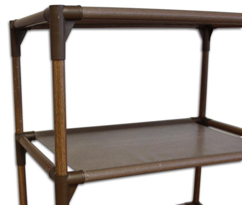 Стеллаж тканевый на 5 полок, коричневый, 46 x 30,5 x 135 см
