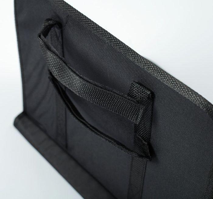 Органайзер-столик в авто на спинку сиденья, черный, 39 х 3,5 х 30 см