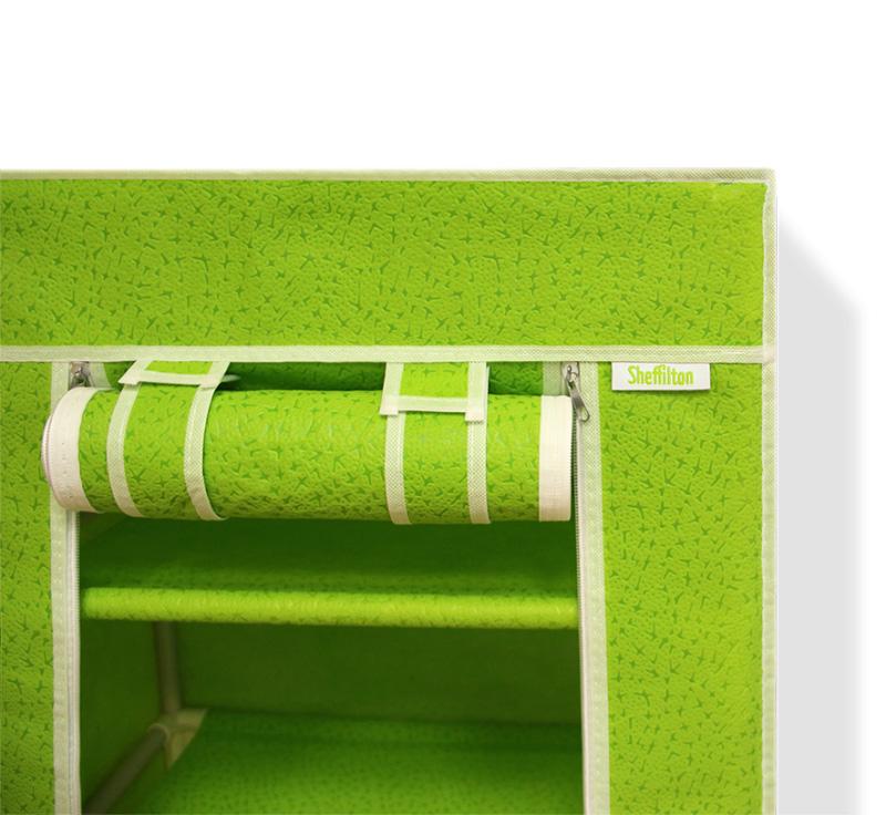 Стеллаж тканевый на 5 полок с чехлом, салатовый, 48 х 32,5 х 137 см