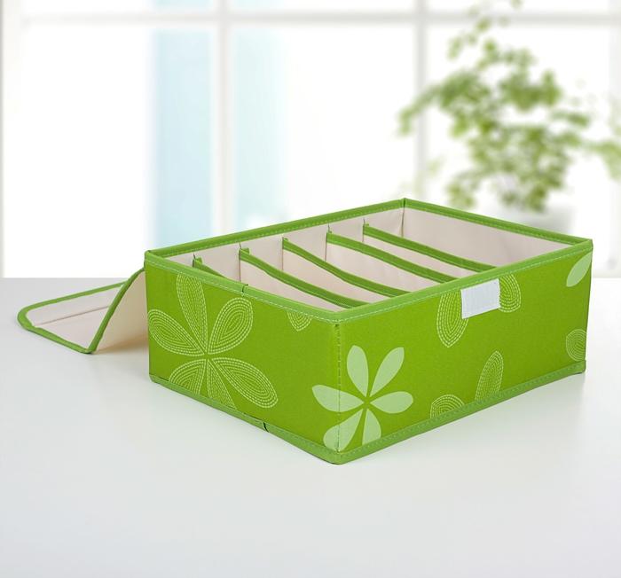 Купить набор органайзеров для белья с крышкой Зеленый луг 3 шт