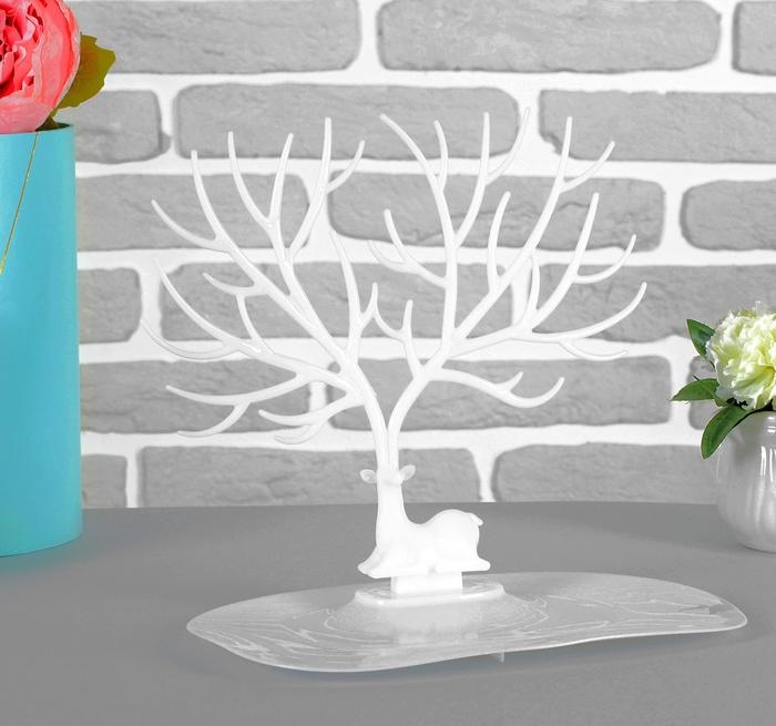 Купить подставку для украшений Дух леса белый