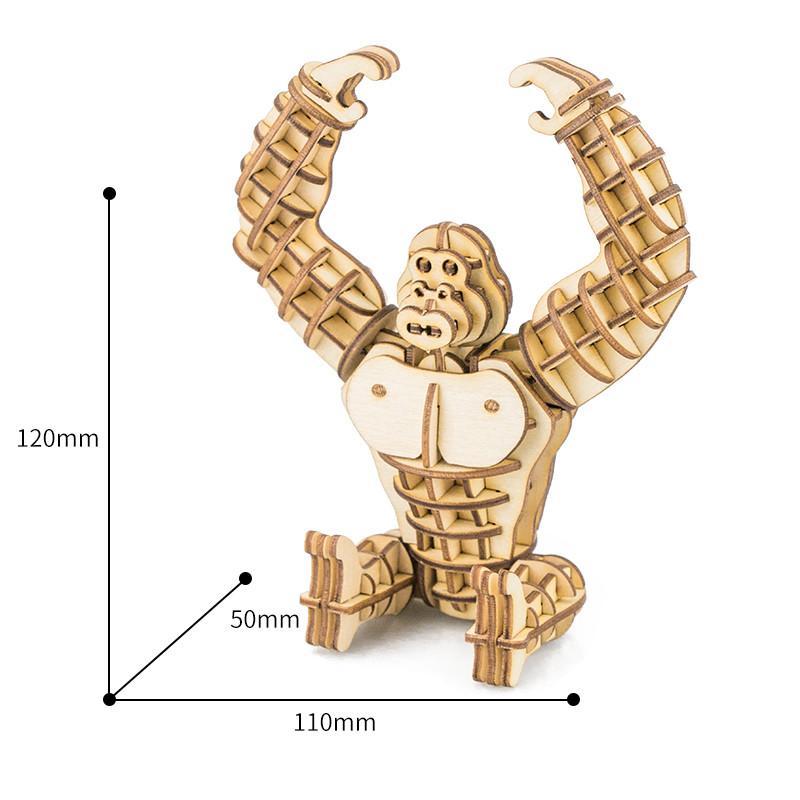 3D-пазл Горилла 11x5x12 см