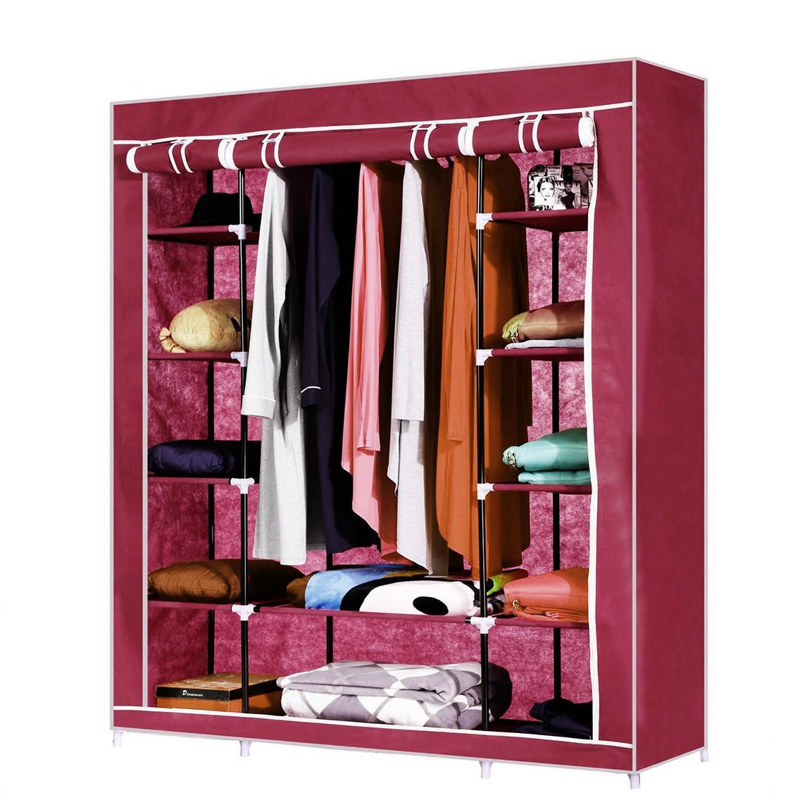 Купить тканевый шкаф Трио красный