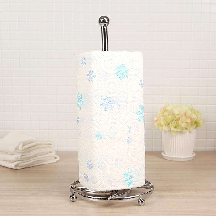 Купить подставку под бумажные полотенца хром 14 х 14 х 30 см