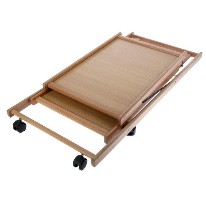 Купить cкладной сервировочный столик бежевый