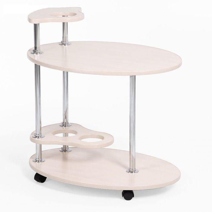"""Купить сервировочный столик """"Лилия"""", белый"""