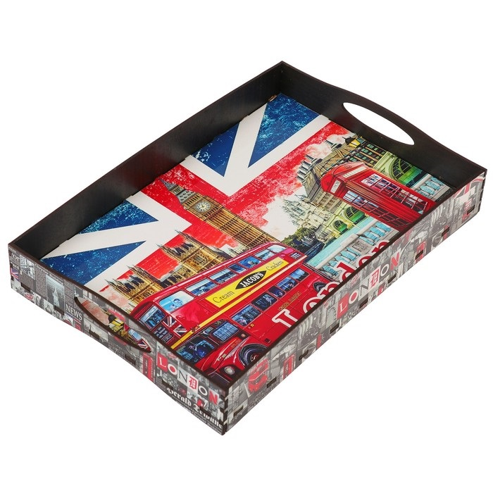 Купить поднос с ручками British