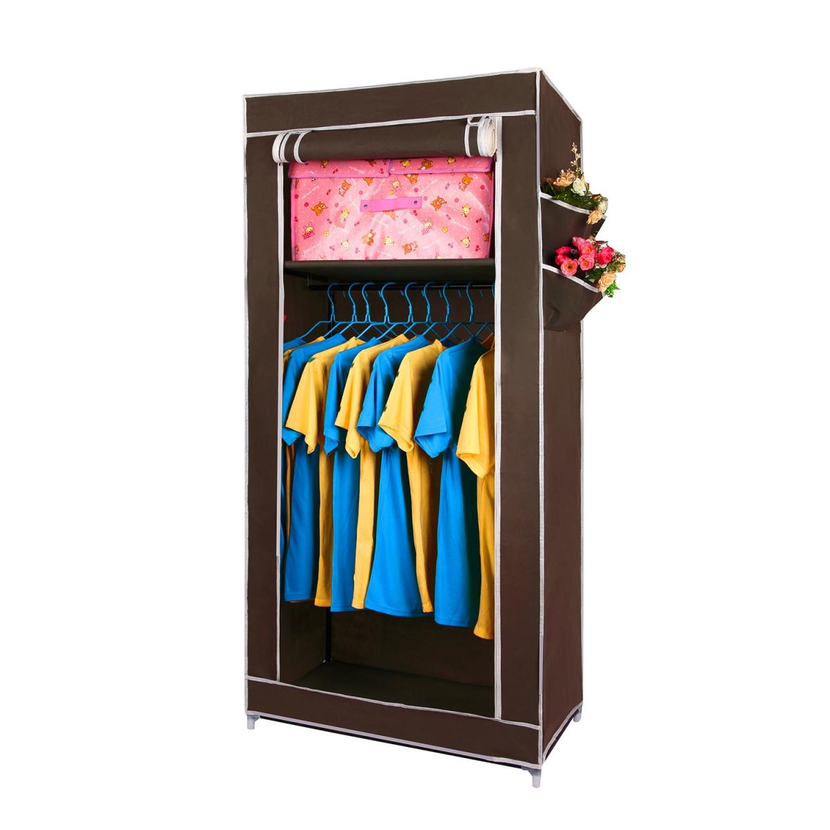 Купить тканевый шкаф Сингл коричневый