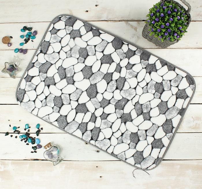Купить коврик для ванной Камни 60 х 40 см