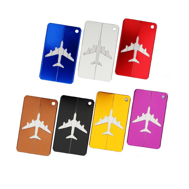 Купить бирку на чемодан Самолет белый