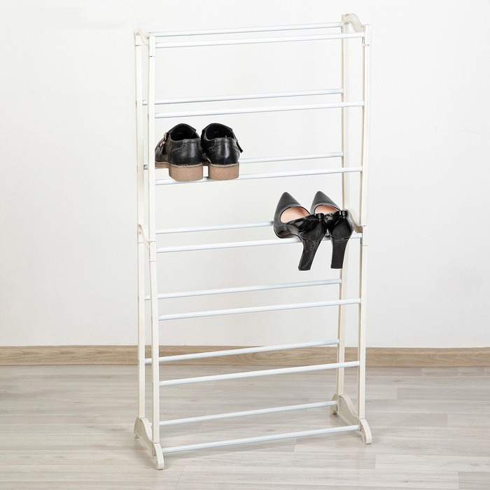 Купить полку для обуви 7 ярусов белый 50 х 24,5 х 95 см