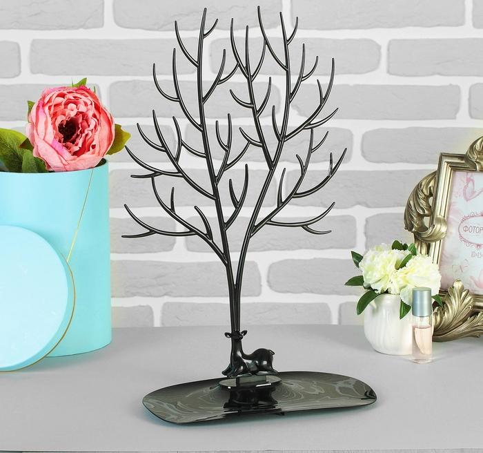 """Купить Подставка для украшений """"Дерево"""", черный, 25 х 15 х 41 см"""