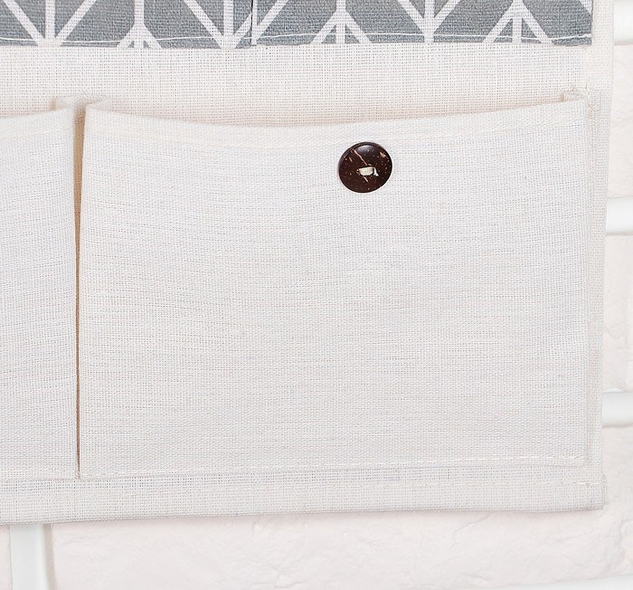 Купить Органайзер с карманами подвесной «Елочка», 7 отделений, серый, 46,5 х 38 х 4,5 см