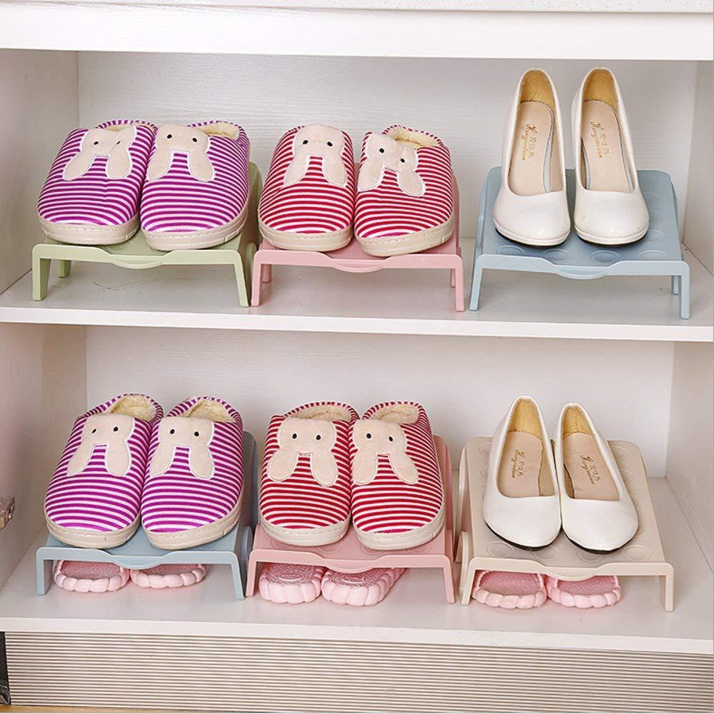 Подставка для обуви на две пары, зеленый, 26 х 21 х 12 см