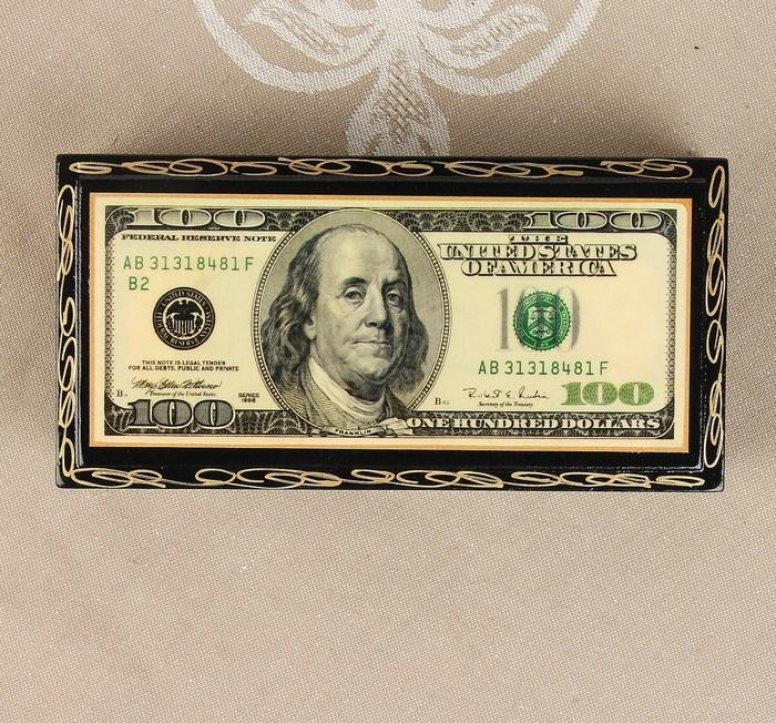 Купить шкатулку для денег и украшений Dollar