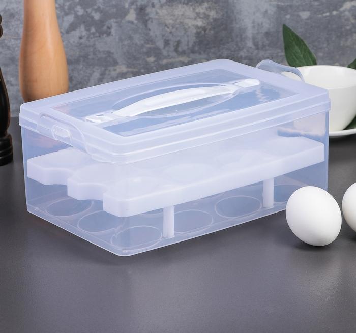Купить контейнер для яиц на 24 шт двухуровневый