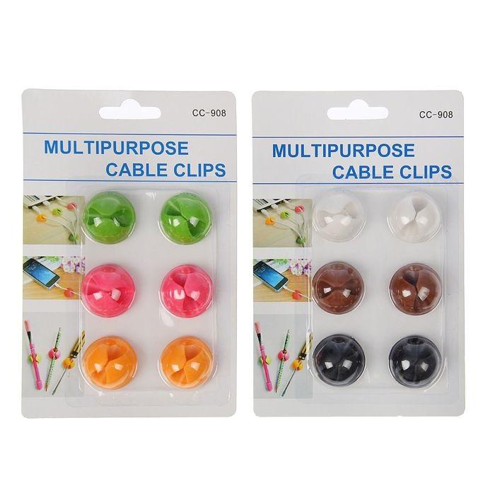 Купить набор держателей для проводов 6 шт 3 х 3 см