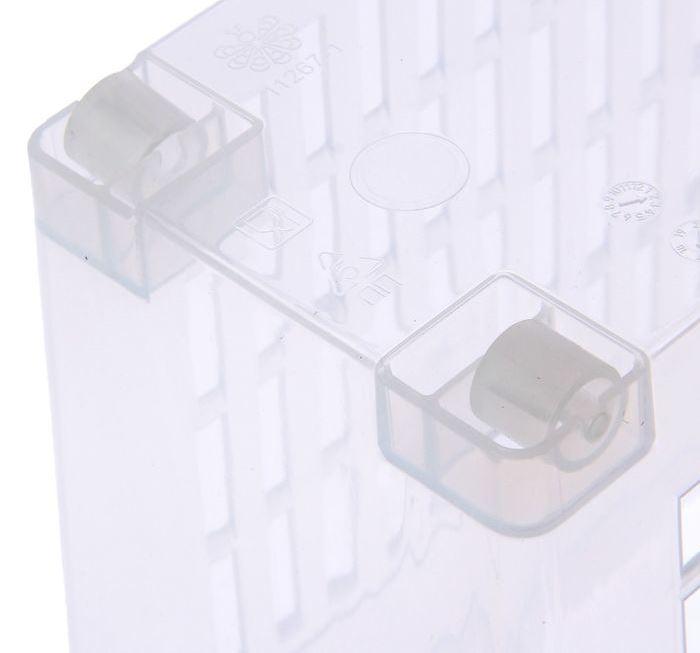 Контейнер универсальный на колесах, 6 л, прозрачный, 35 x 13 x 20 см