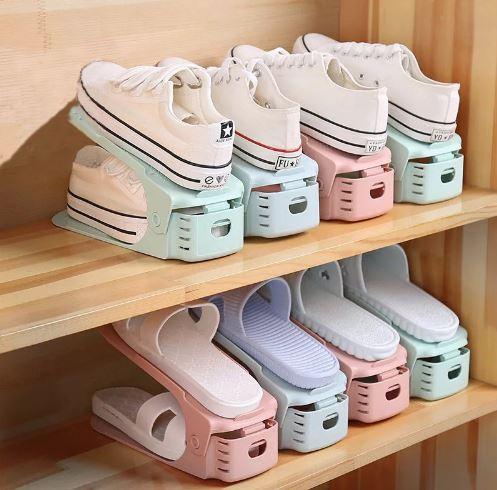 Подставка для обуви на одну пару, модель 1, белый, 25 х 12 х 12,5 см