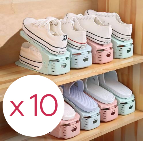 Комплект из подставок для обуви, 10 шт., 25 х 9 х 10-18 см