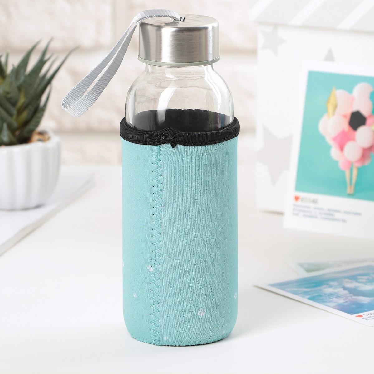 """Бутылка для воды """"Hello"""" на 300 мл, 6 х 6 х 16,5 см"""