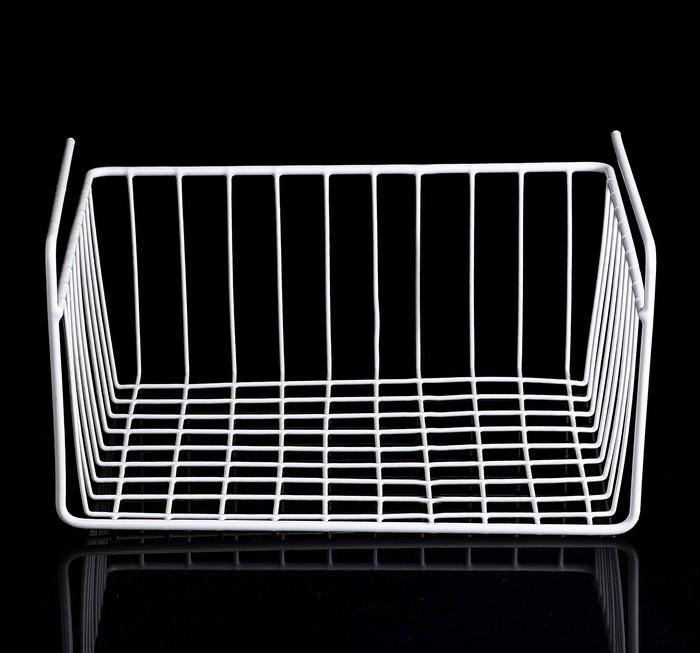 Комплект из двух подвесных полок, белый, 30 х 24 х 14 см