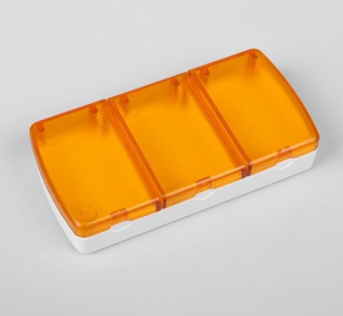 Купить Таблетница, 3 секции, 9,5 х 5 х 2 см