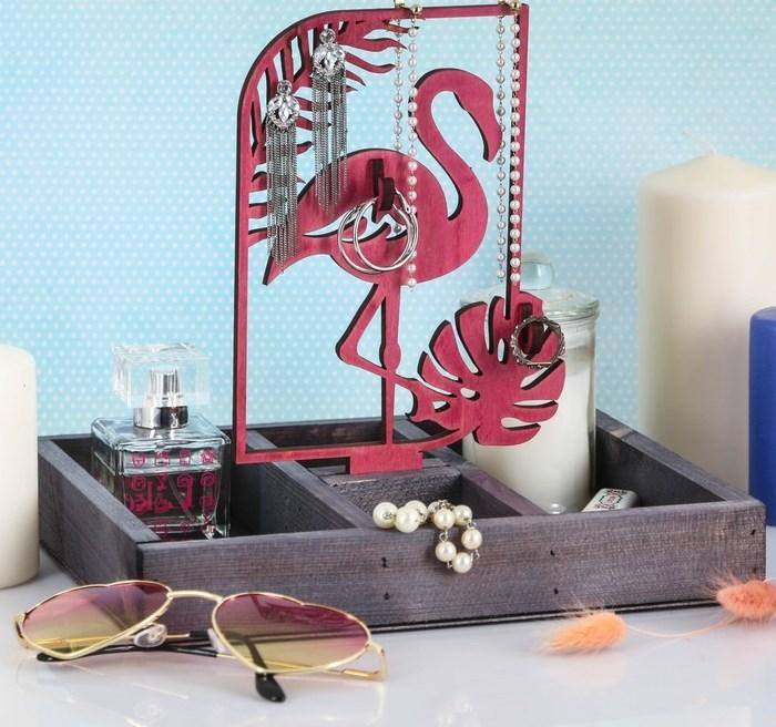 """Купить Органайзер для украшений """"Розовый фламинго"""""""