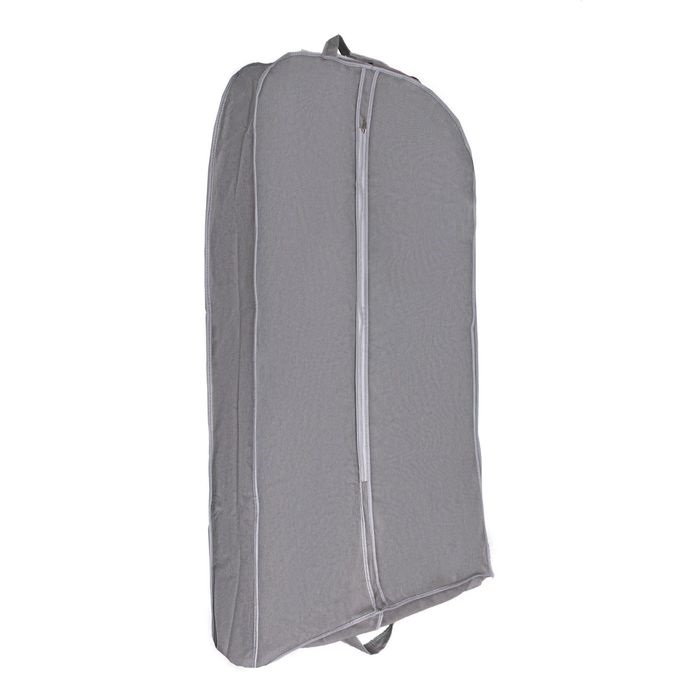 Купить Чехол для одежды, серый, 120 х 60 х 10 см